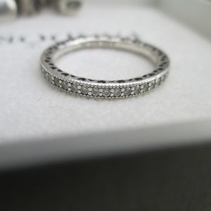 Retired Pandora size 56  Cz eternity band